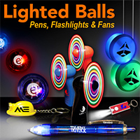 Lighted Balls, Pens, Flashlights & Fans