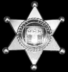 "Silver Plastic 3"" Sheriff's Badges"
