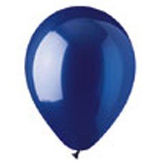 Blue Crystal Latex Balloons - 12 Inch, 100 Pack