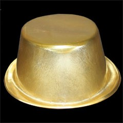 Gold Plastic Top Hats