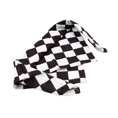 Checkered Flag Bandanas - 20 Inch, 12 Pack
