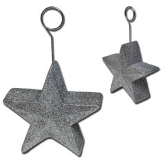 Silver Star Balloon Weight