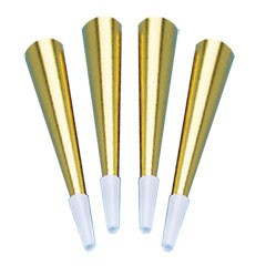 Gold Foil Horns - 9 Inch, 12 Pack