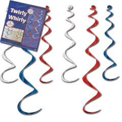 Patriotic Twirly Whirly Decorations