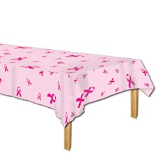Pink Ribbon Table Cover