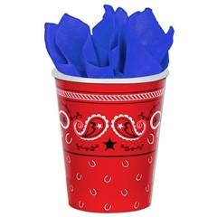 Red Bandana  9 oz Cups