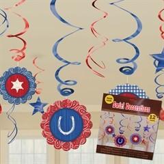 Western Bandana  Swirl Decorations