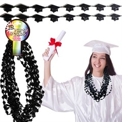 Black Graduation Cap Beads