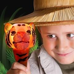 Light Up Tiger Head Wand