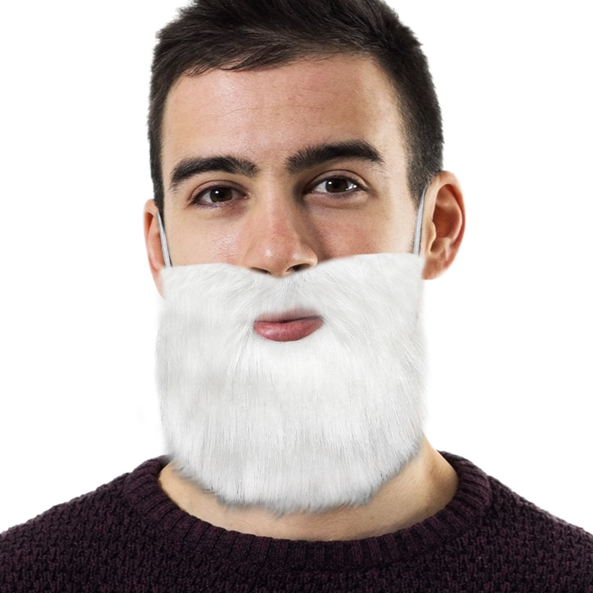White Beard with Elastic Band