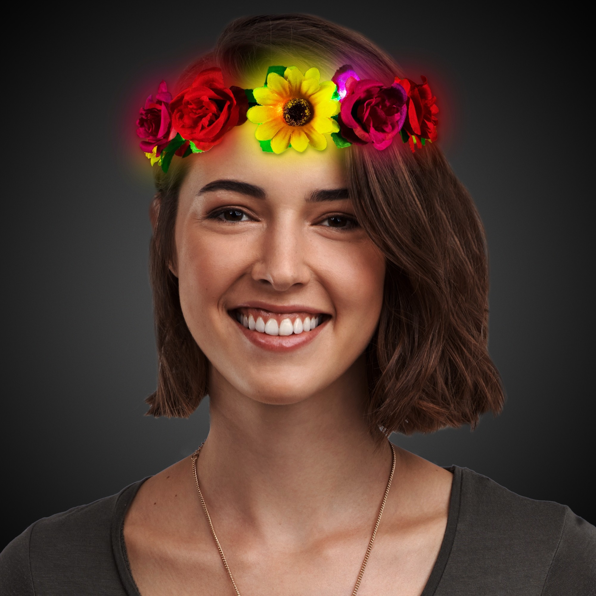 LED Sunflower Halo Headband