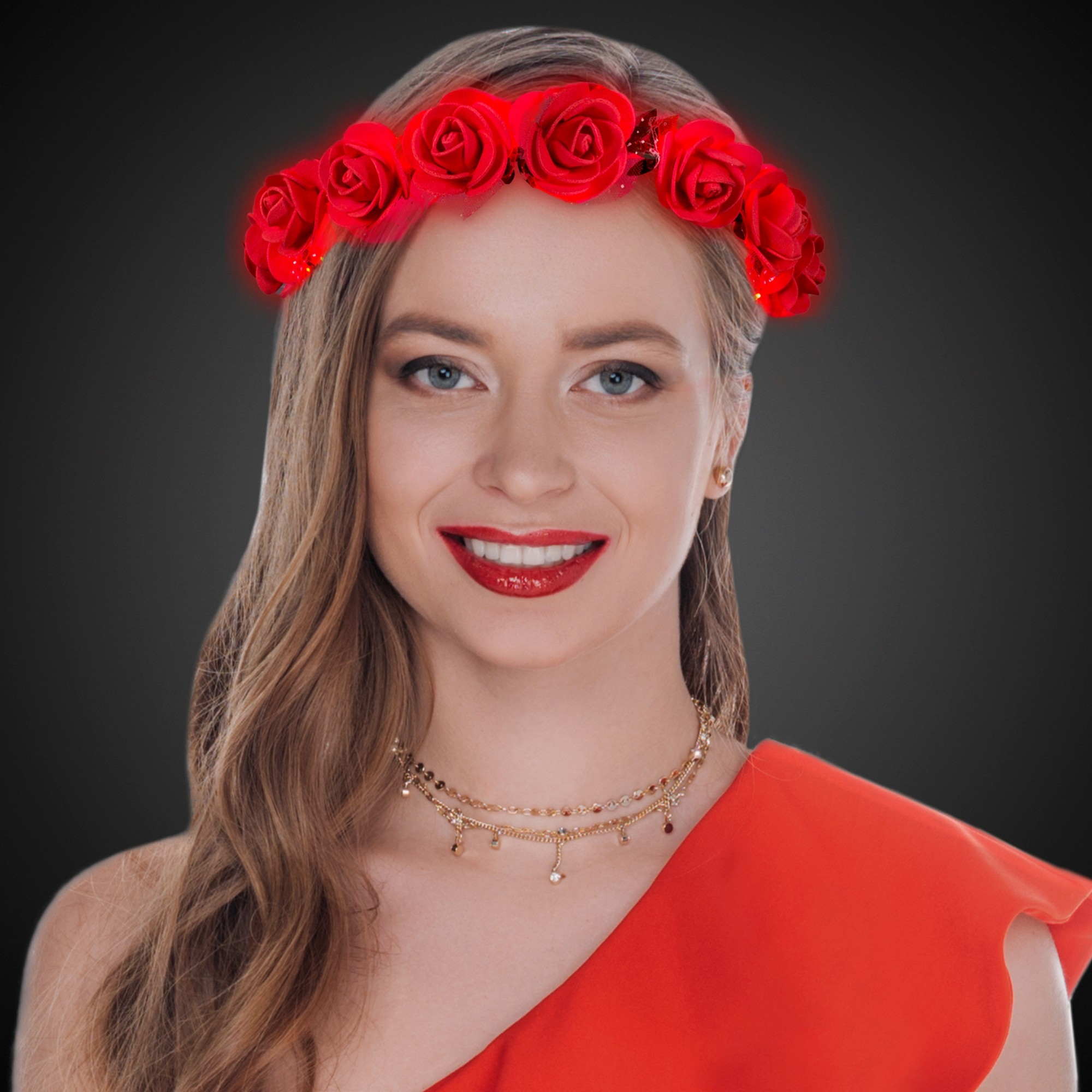 Red Roses LED Halo Headband
