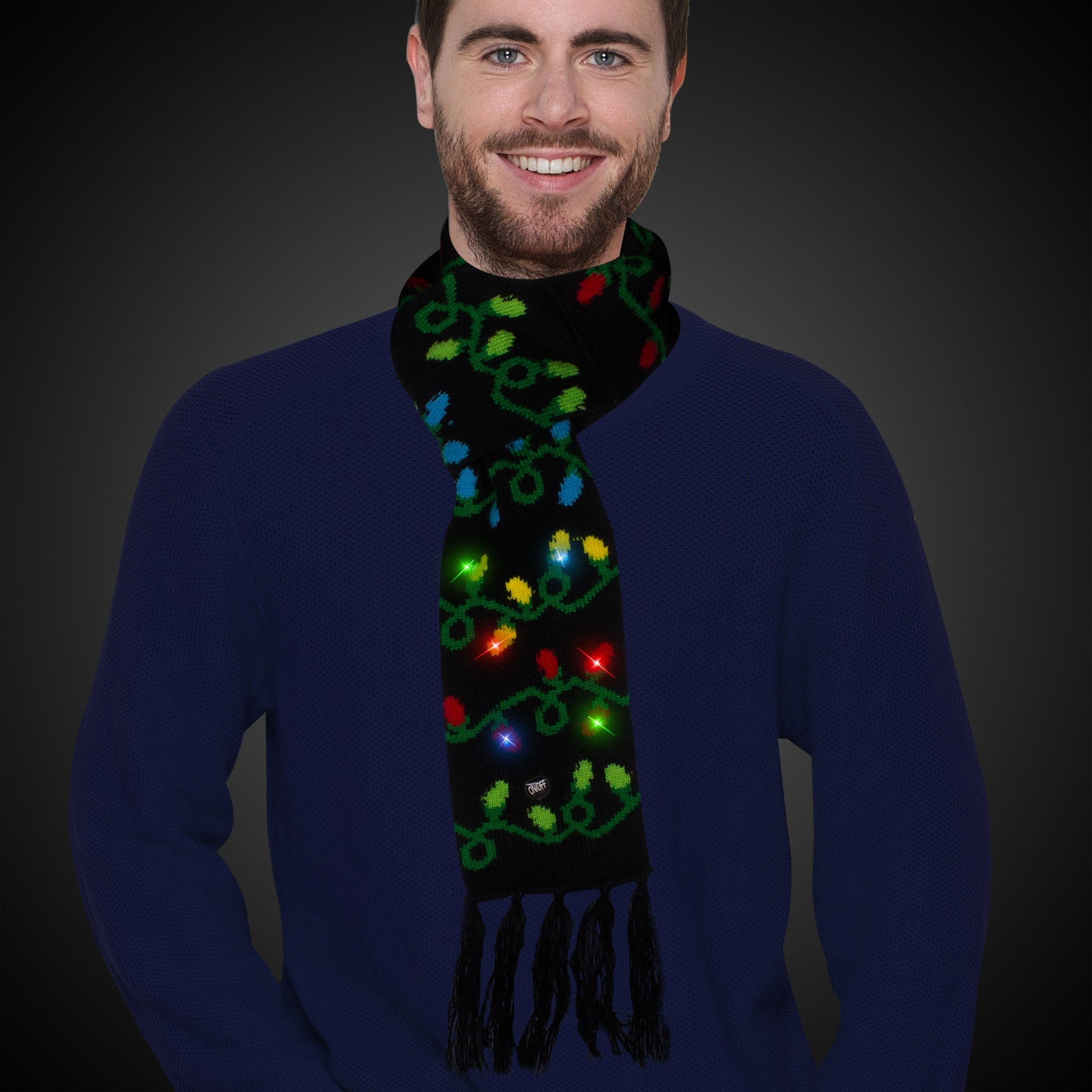 Christmas Light Bulb Led Scarf Christmas Holidays Amp Events