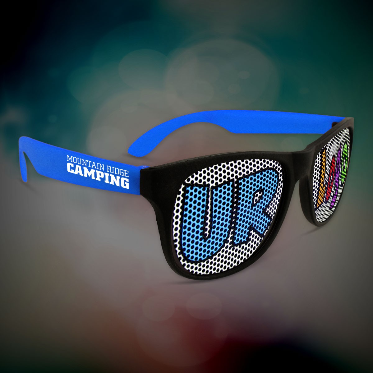 Custom Blue Neon Billboard Sunglasses