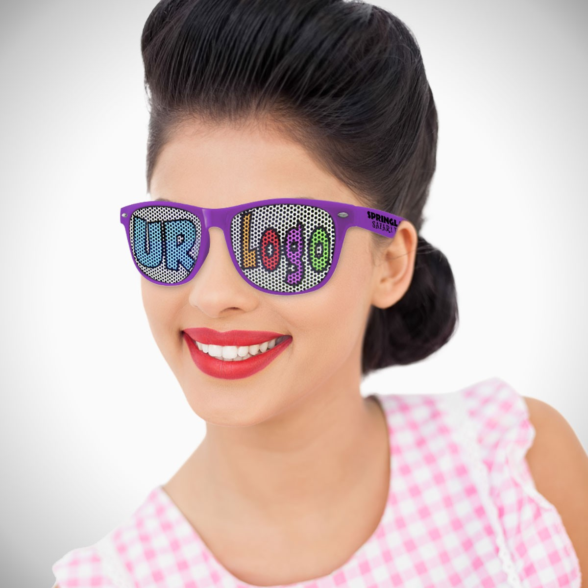 Purple Custom Classic Retro Billboard Sunglasses