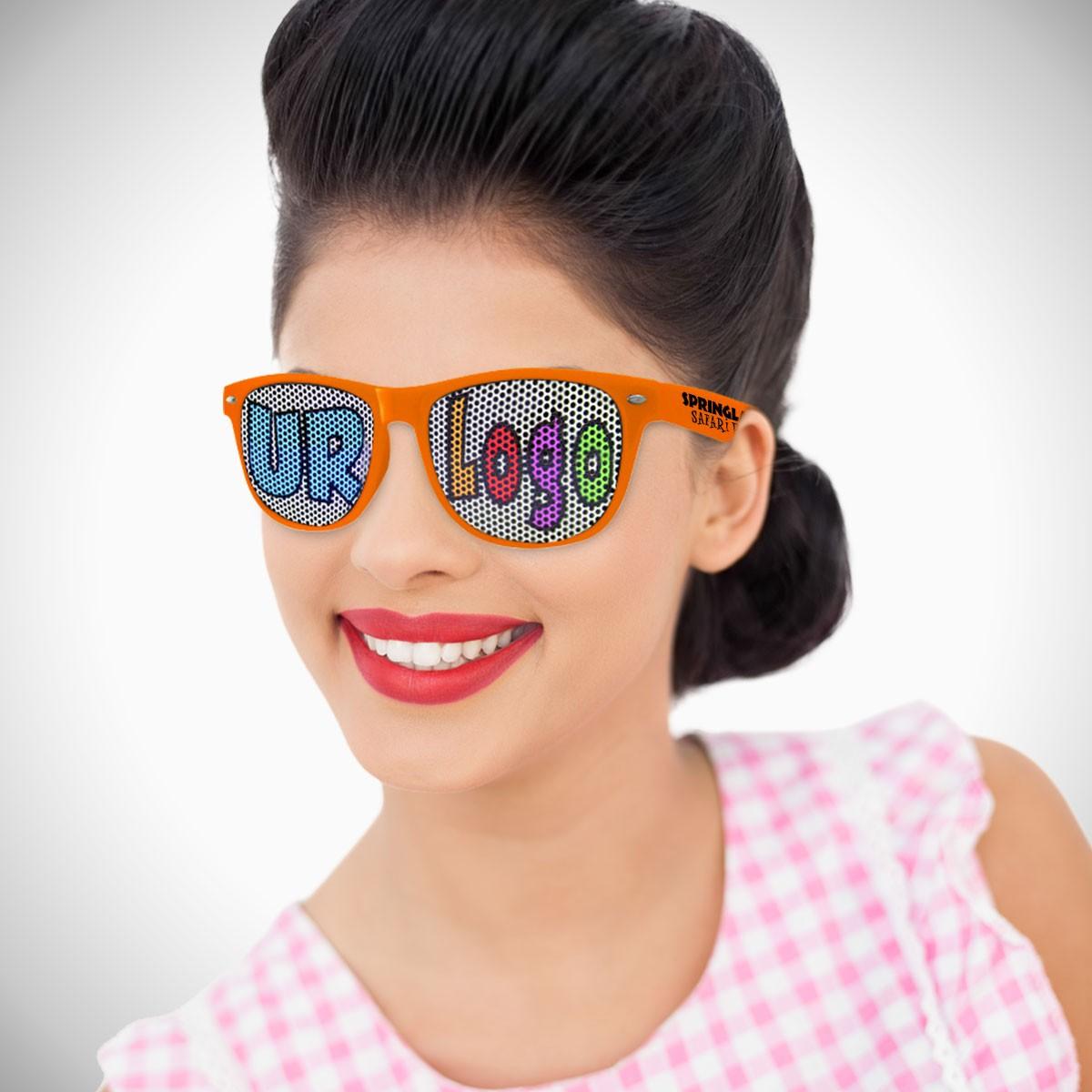 Orange Custom Classic Retro Billboard Sunglasses