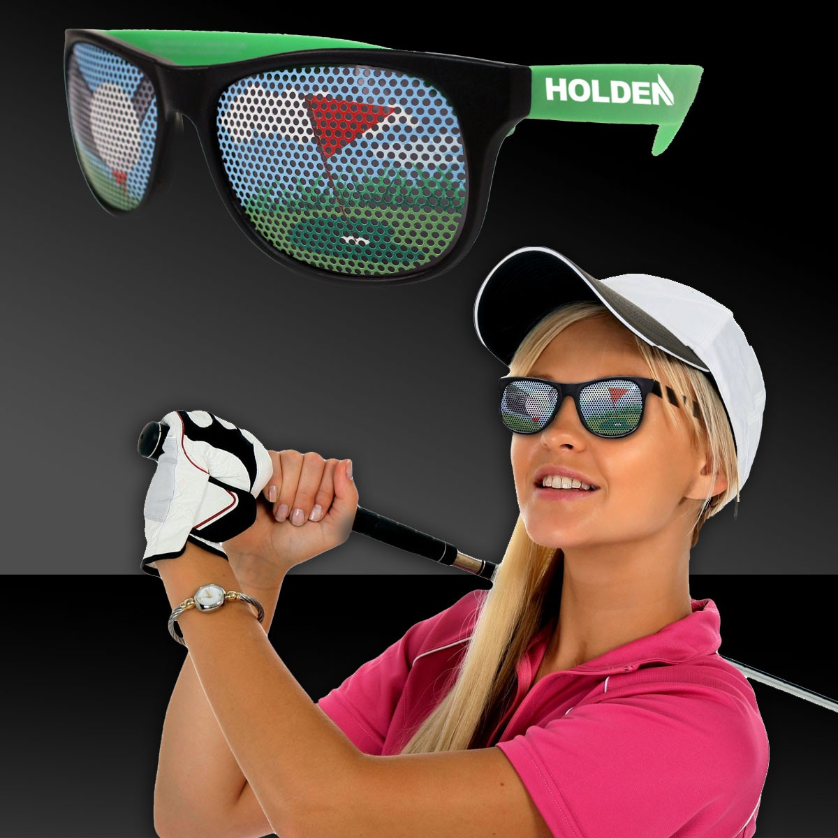 Golf Neon Green  Billboard Sunglasses