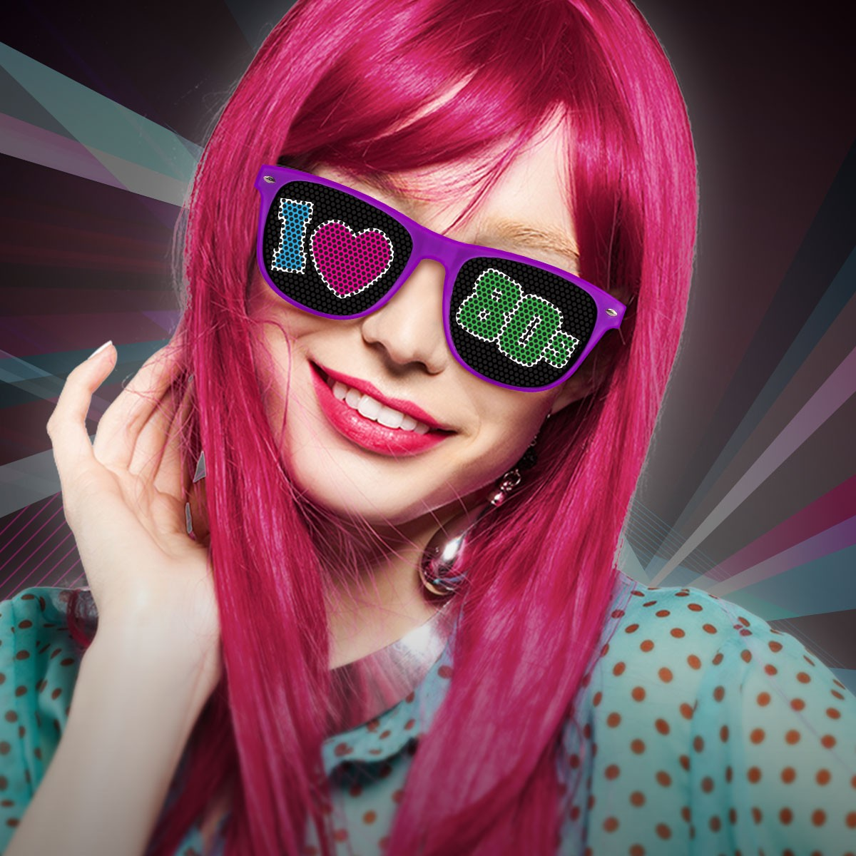 80's Party Sunglasses