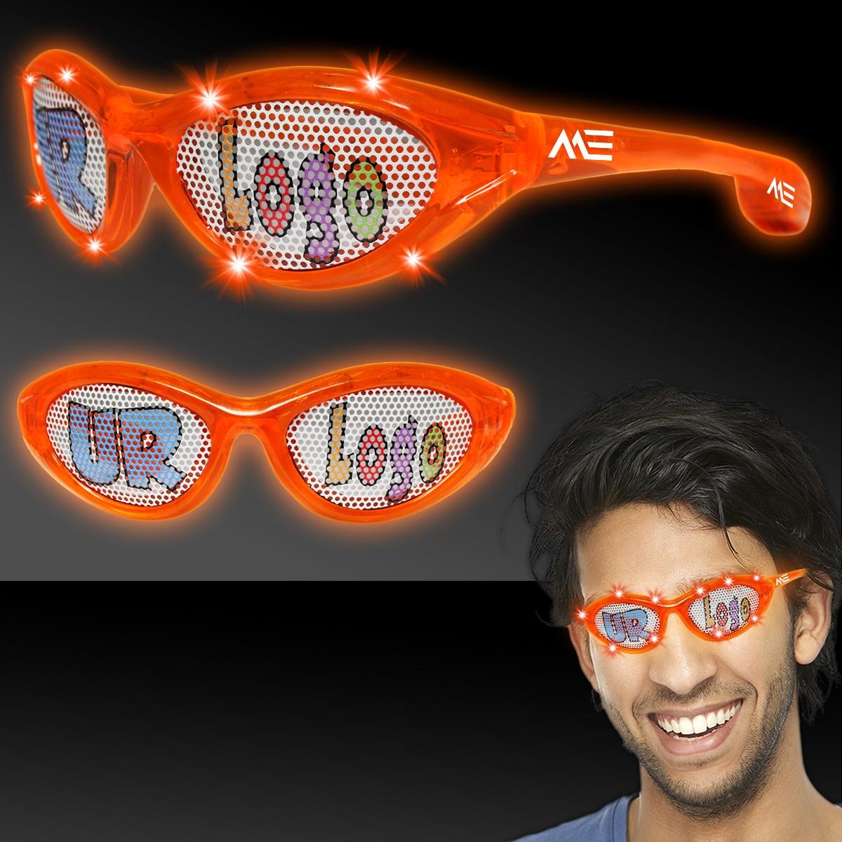 Orange LED Billboard Sunglasses