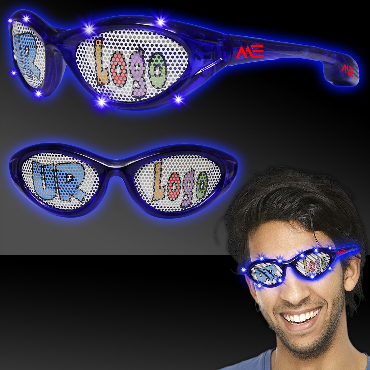 Blue LED Billboard Sunglasses