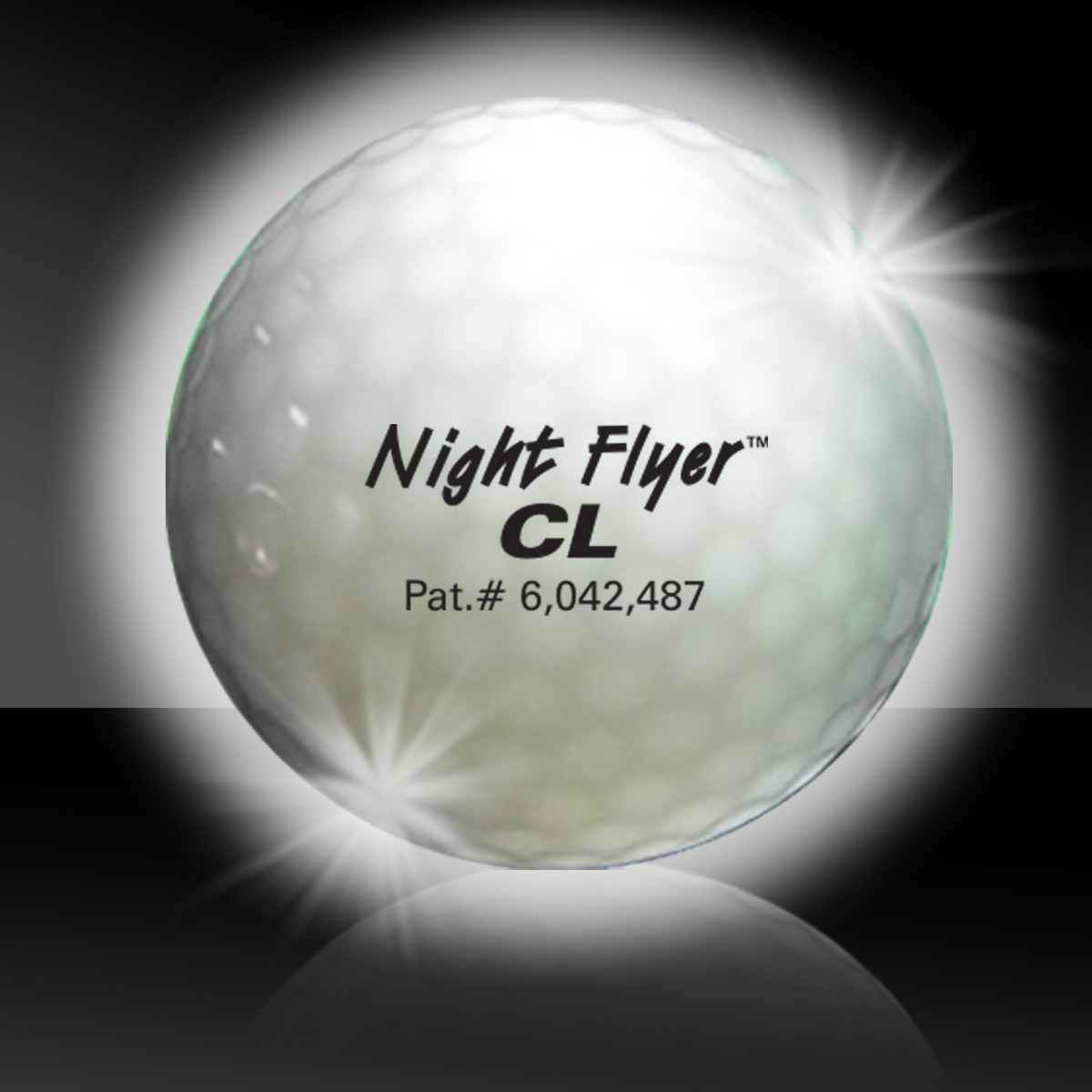 White Night Flyer Golf Ball