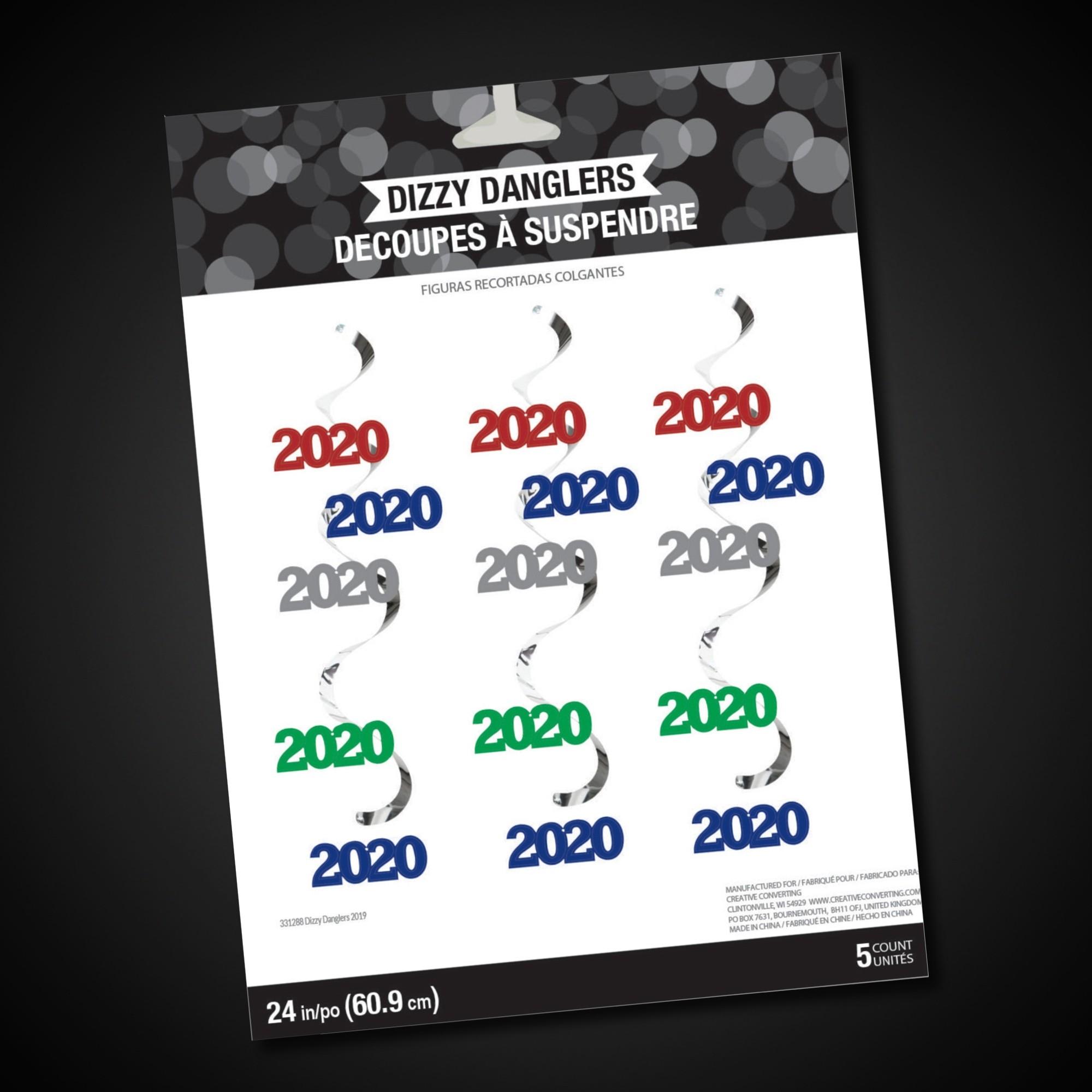 2020 Multi Color Metallic 24'' Danglers
