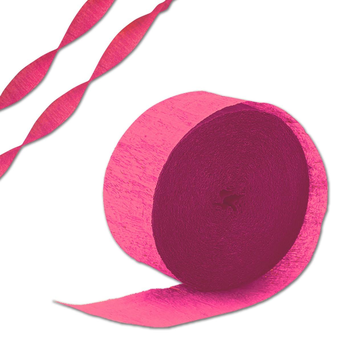 Pink Crepe Paper Streamer