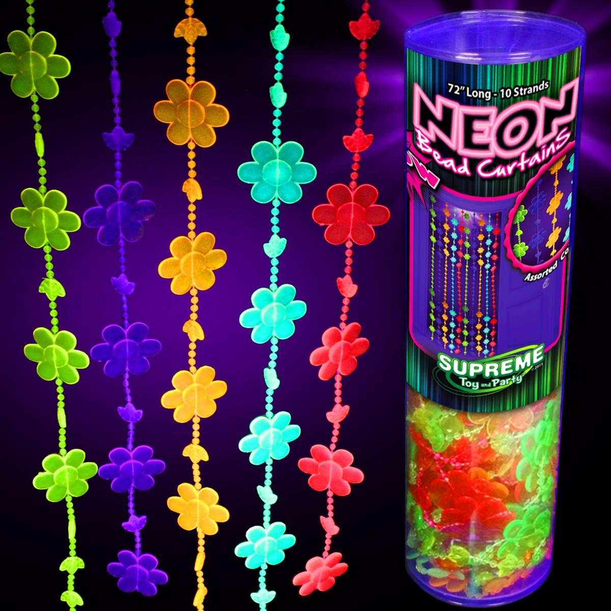 Neon Beaded Door Curtain