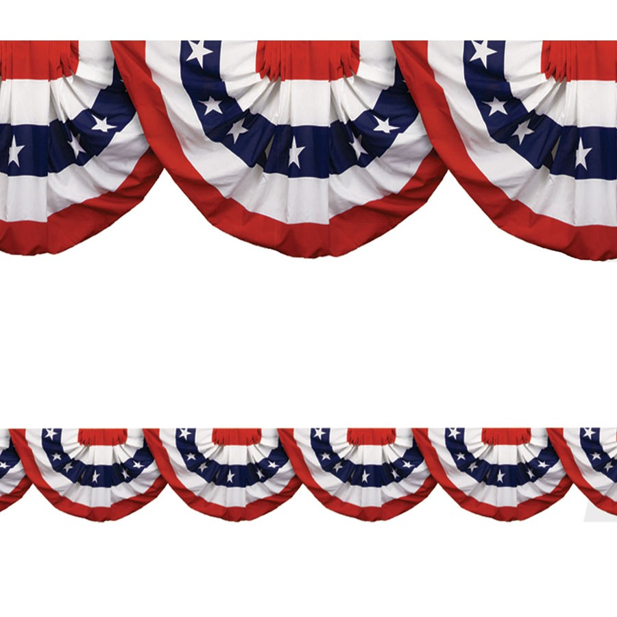 Patriotic Bunting Border Roll