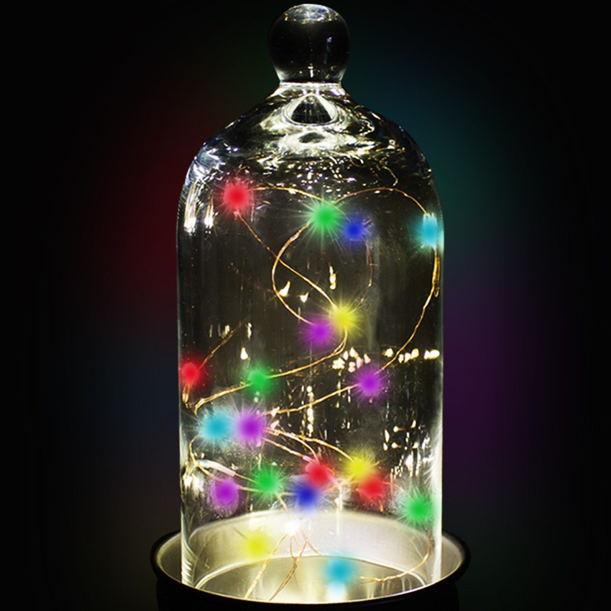 Multicolor String Lights : Multi Color LED String Lights - Light Up Novelties