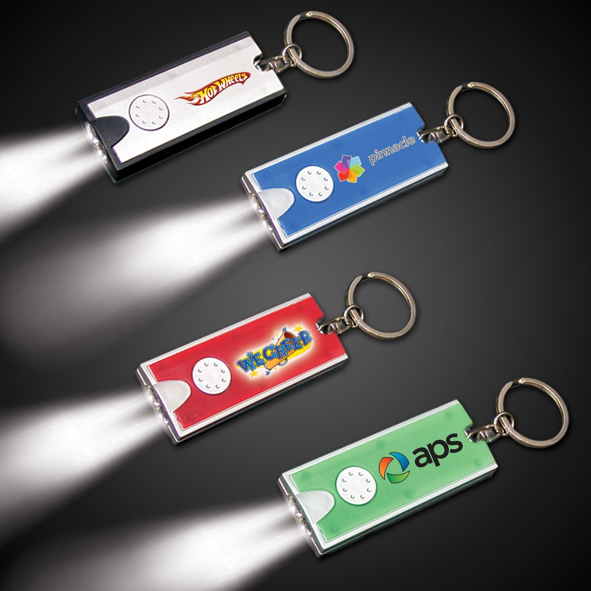 Rectangle Light Up Key Chain Flashlight
