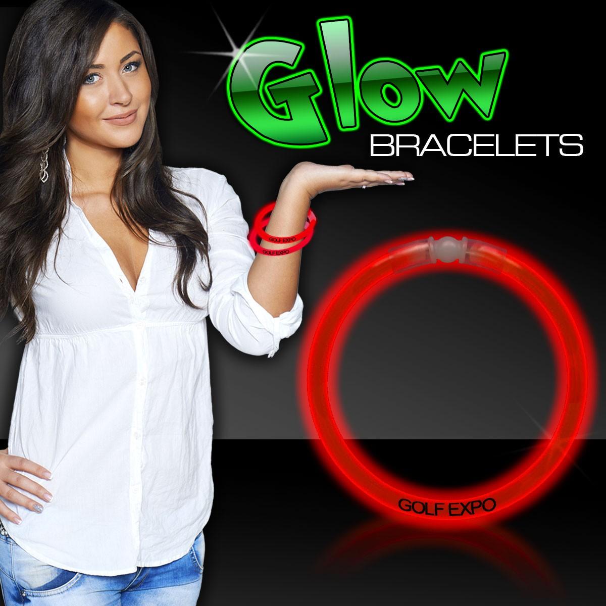 Red Superior 8 Inch Glow Bracelets