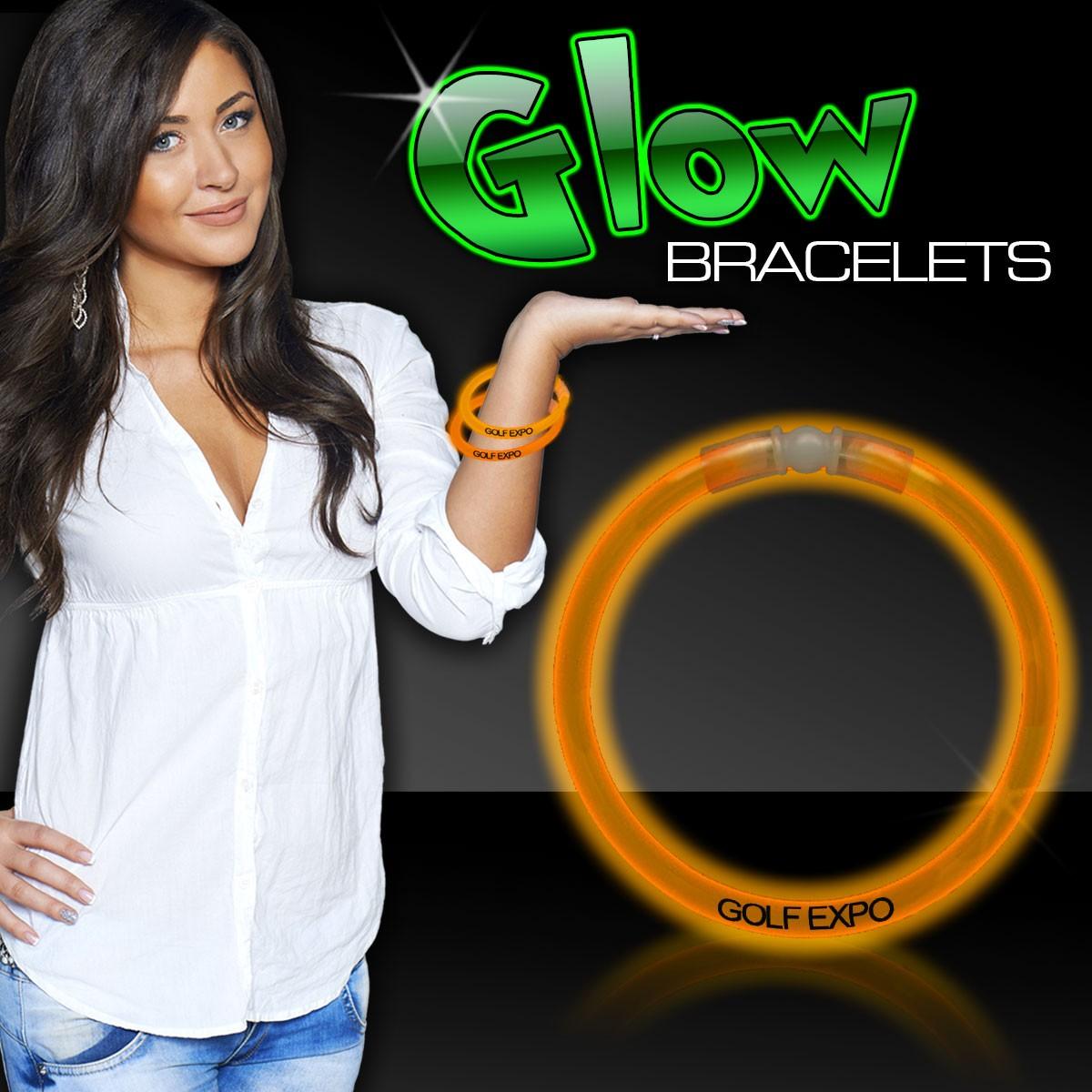 Orange Superior 8 Inch Glow Bracelets