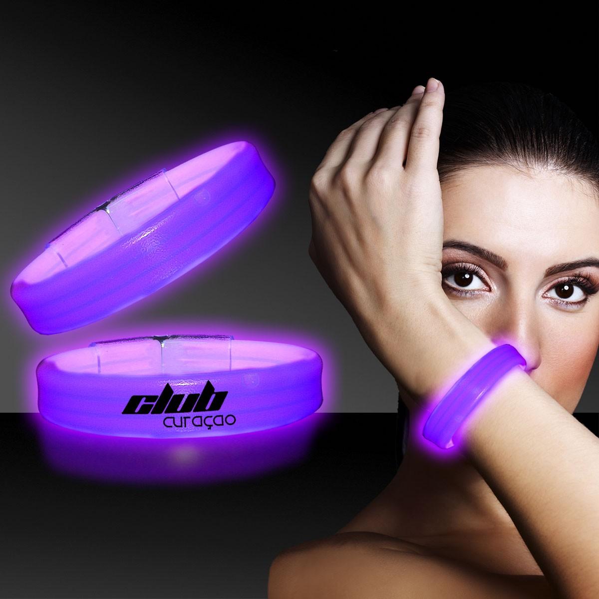 Purple Deluxe Triple Wide 9 Inch Glow Bracelet