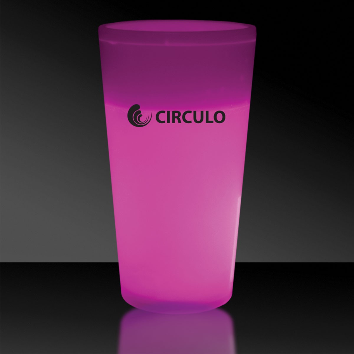 Pink 12 Ounce Glow Cups