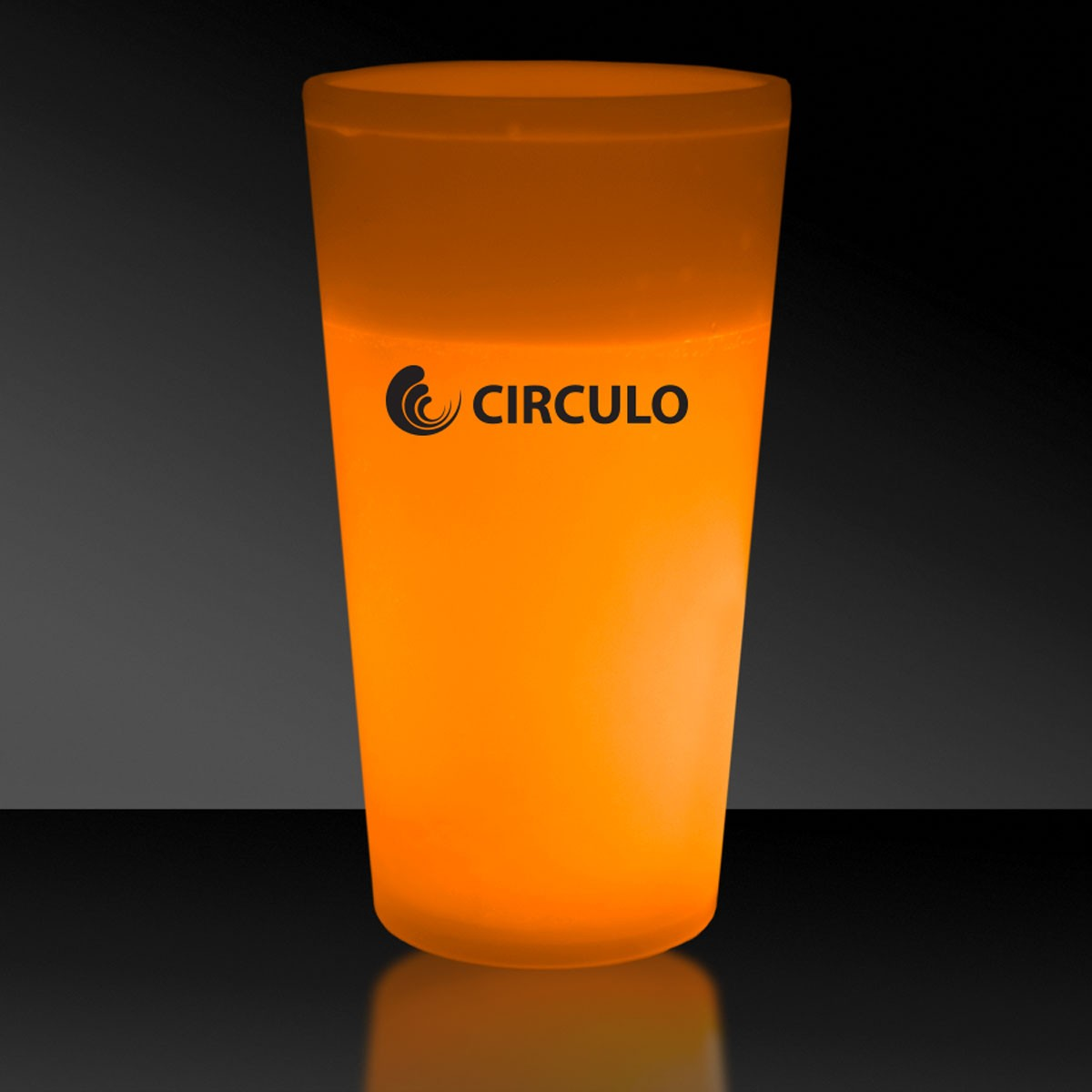 Orange 12 Ounce Glow Cups