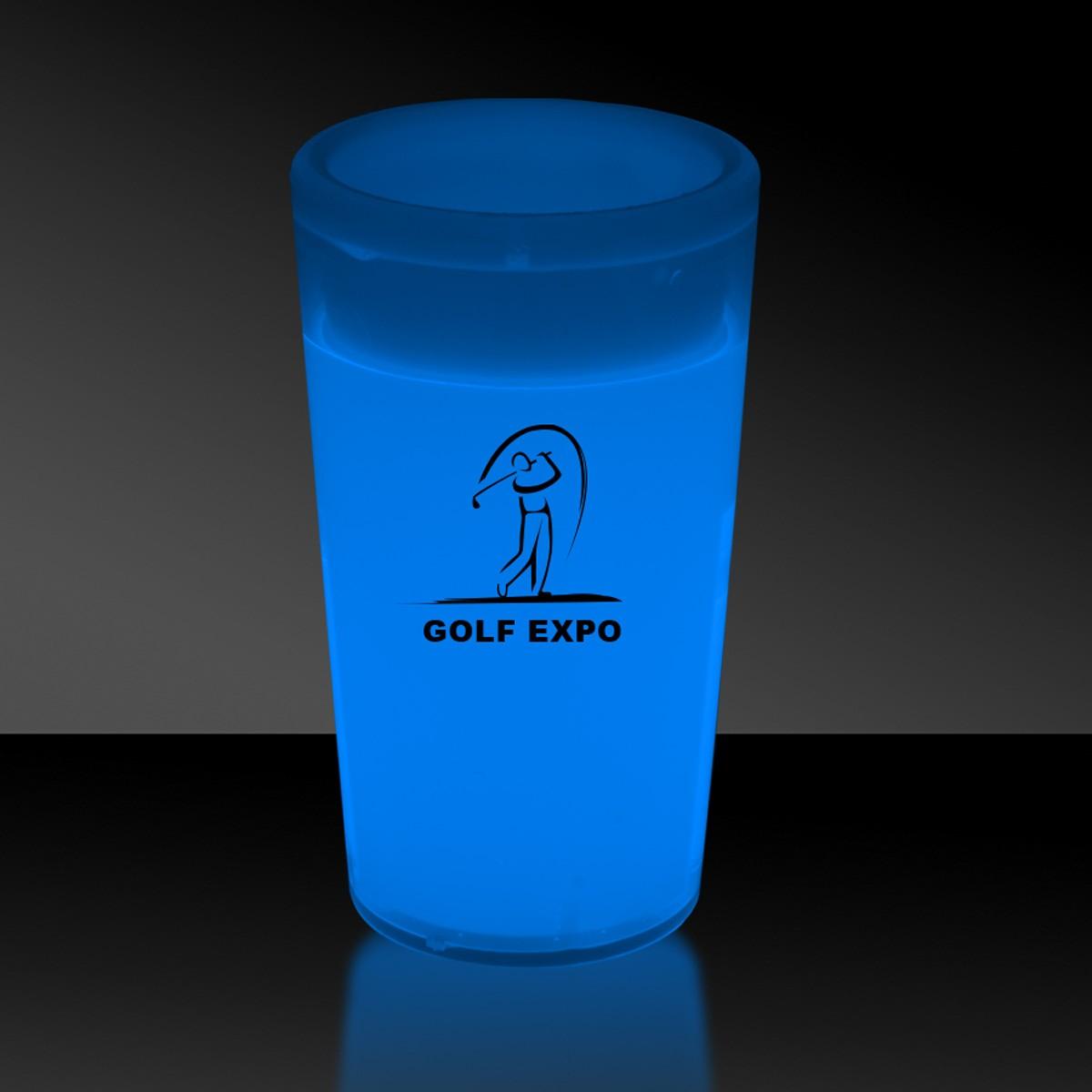 Blue 2 Ounce Glow Shot Glass