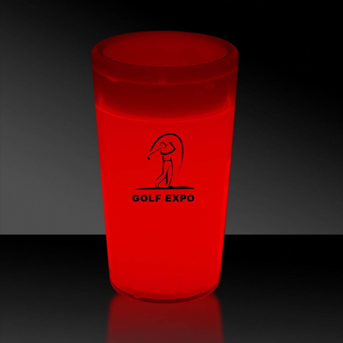 Red 2 Ounce Glow Shot Glass