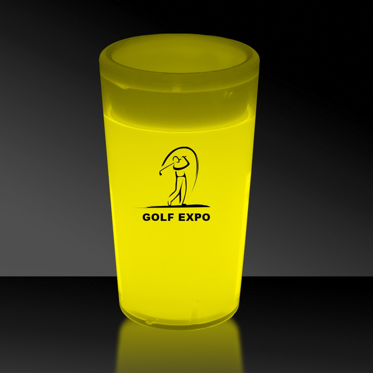 Yellow 2 Ounce Glow Shot Glass