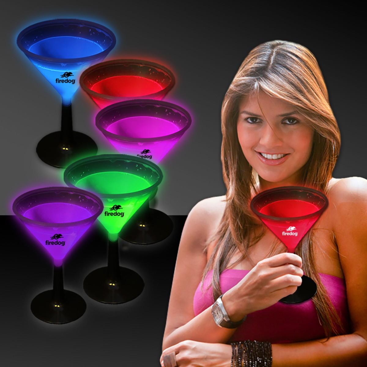 9 Ounce Glowing Martini Glass