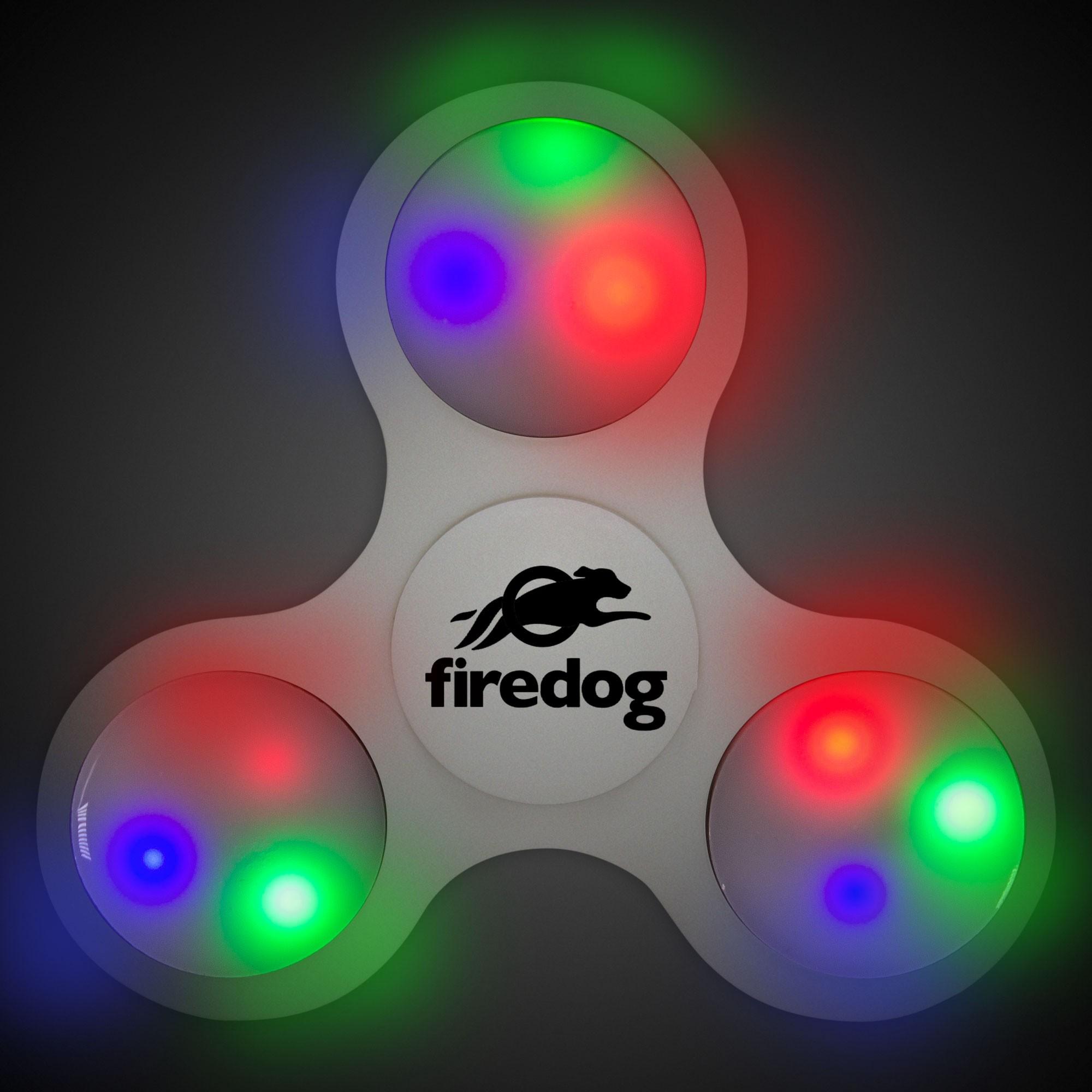 Light Up White Fidget Spinner