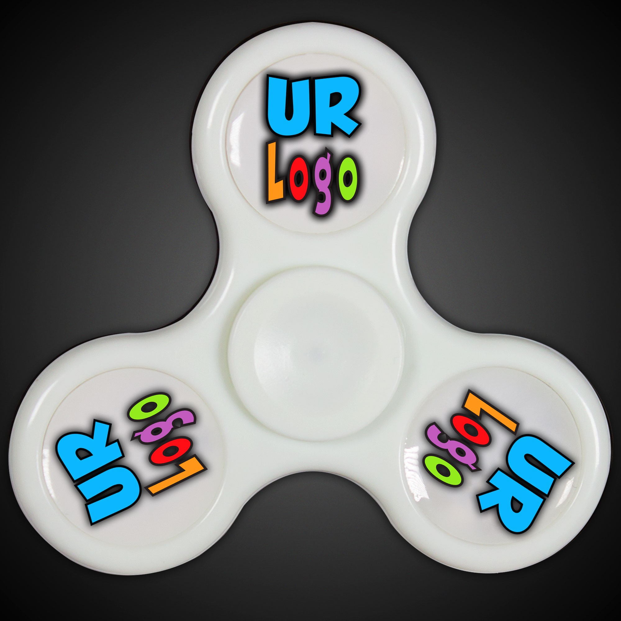 Light Up White Fidget Spinner
