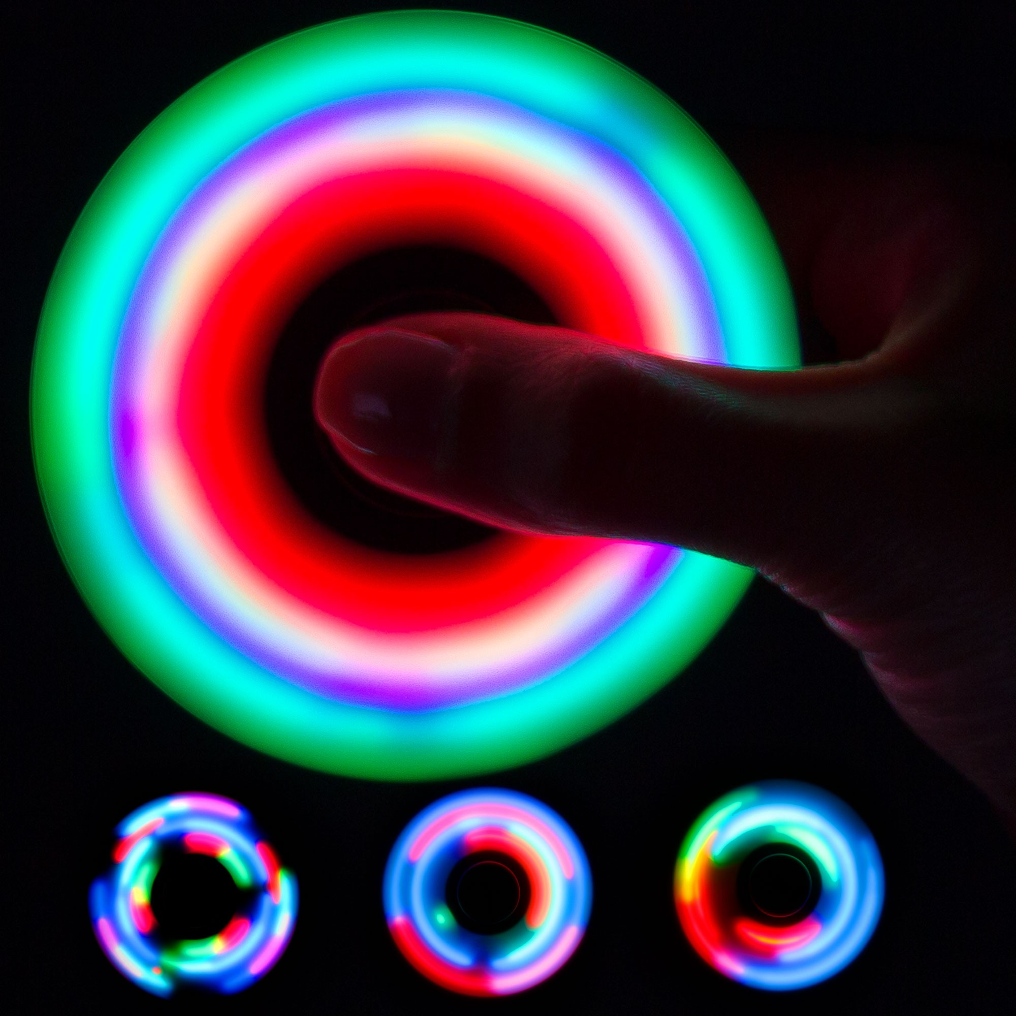 Light Up White Fidget Spinner Light Up Novelties