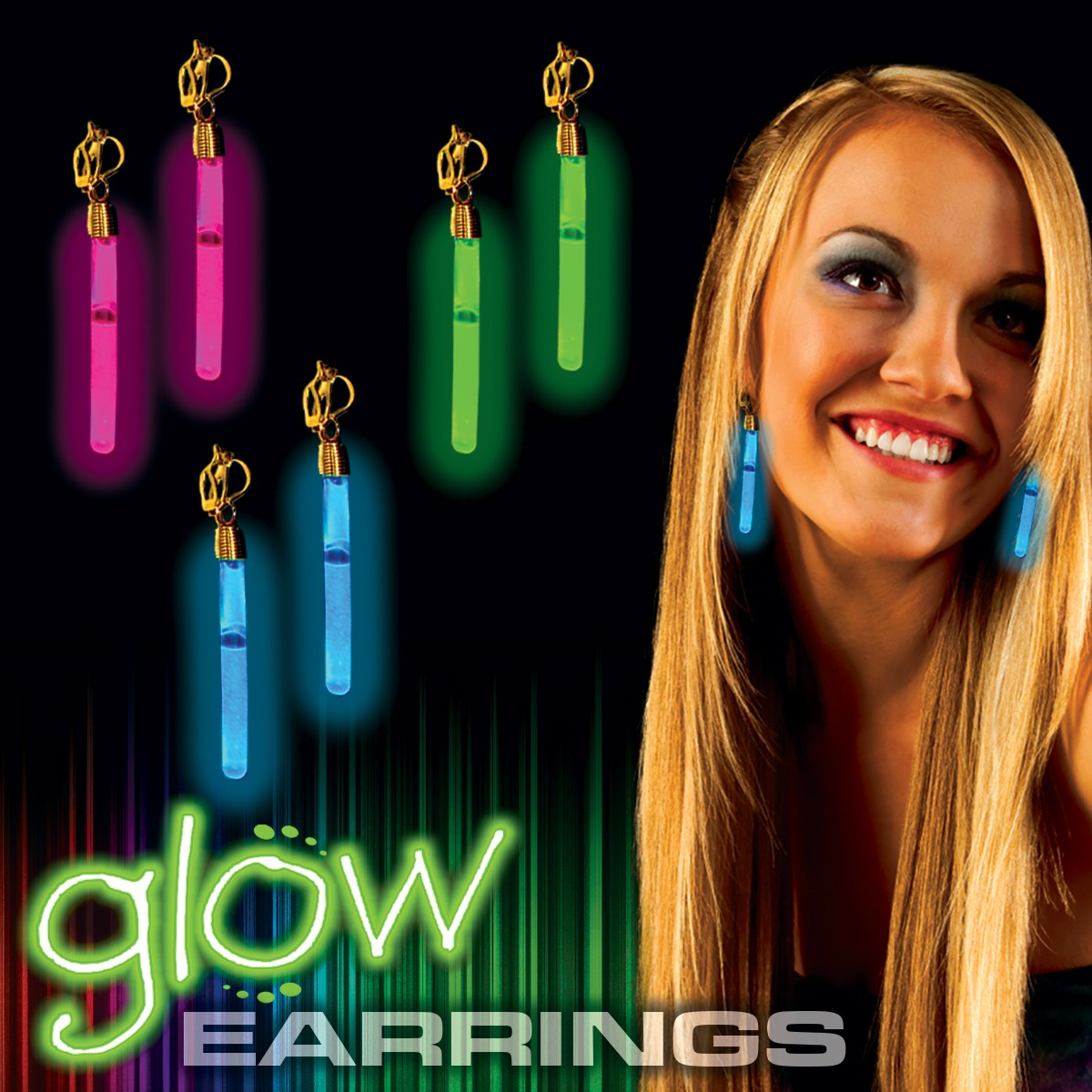 Glow Clip On Earrings