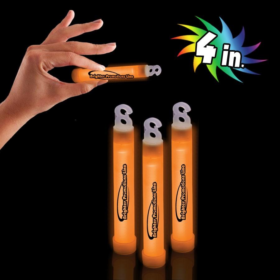 """Orange 4"""" Premium Glow Sticks"""