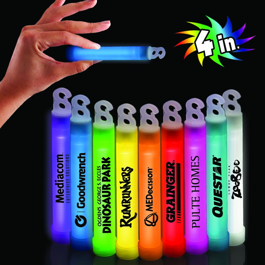 "Premium Glow Sticks - 4"" - Variety of Colors"