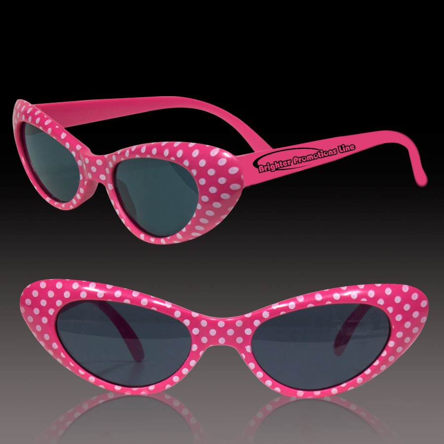Pink Polka Dot 50's Sunglasses