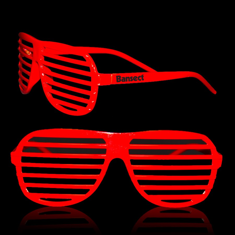 Red Slotted Shutter Shades