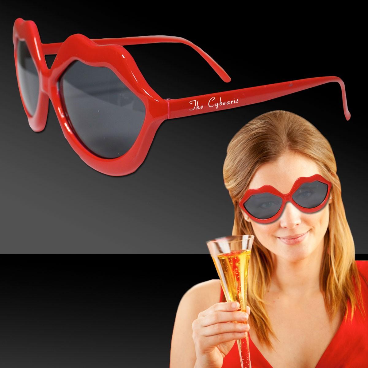 c45e6cbd311 Red Plastic Lip Sunglasses - Sunglasses