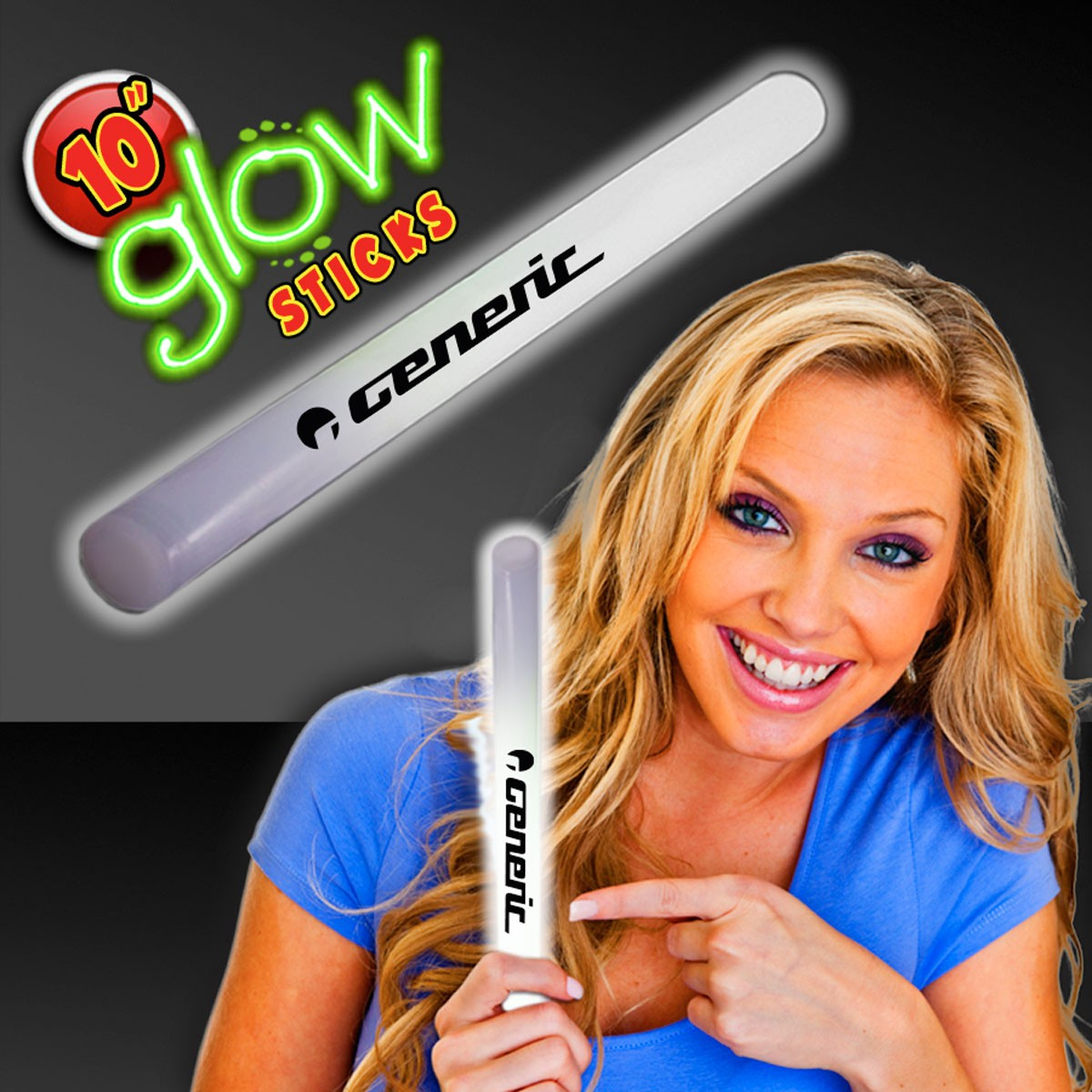 "White 10"" Glow Sticks"
